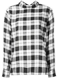рубашка в клетку с пуговицами на спине Astraet