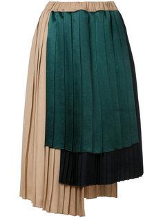 плиссированная асимметричная юбка  Astraet