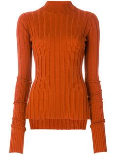 трикотажный свитер в широкий рубчик Theory