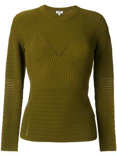 приталенный свитер с круглым вырезом Kenzo
