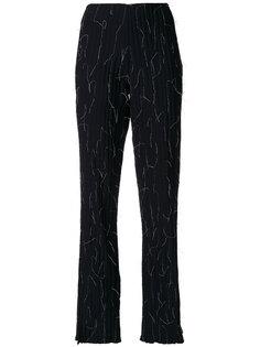 брюки клеш с декоративной строчкой  Pinghe