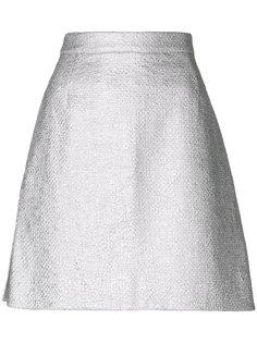 А-образная юбка металлик  Carven