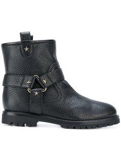 ботинки с заклепками в форме звезд Aquazzura