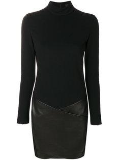 платье с контрастной отделкой  Barbara Bui