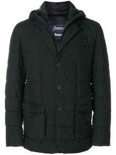 дутая куртка-пиджак с капюшоном Herno