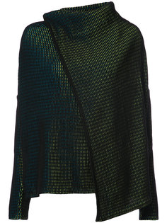 embroidered knitted top Issey Miyake