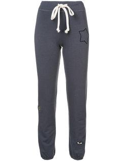 спортивные брюки с вышивкой звезд Sandrine Rose