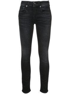 джинсы скинни с потертой отделкой R13