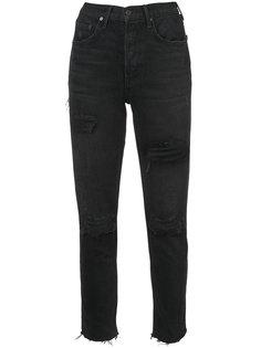 джинсы с потертой отделкой Grlfrnd
