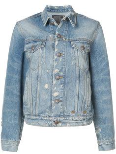джинсовая куртка с потертой отделкой R13