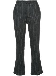 полосатые расклешенные брюки  R13