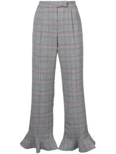 клетчатые брюки с расклешенной оторочкой Rosie Assoulin