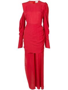 платье с асимметричной драпировкой Magda Butrym