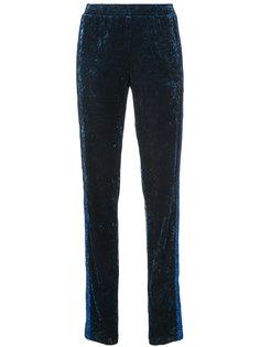 Starburst velvet track pants Anna Sui