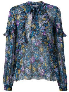 garden flower ruffle chiffon top Anna Sui