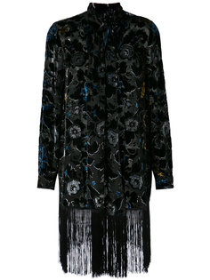 robe with fringed hem Anna Sui