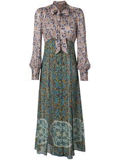 платье макси с цветочным узором Anna Sui