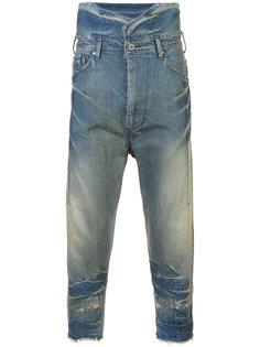 укороченные джинсы с завышенной талией Julius