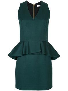 приталенное платье с V-образным вырезом  Pierre Balmain