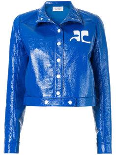 виниловая куртка с логотипом Courrèges