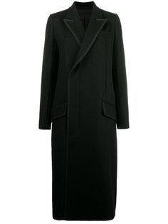 двубортное пальто с золотистой строчкой  Haider Ackermann