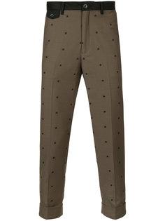 укороченные брюки со звездами Education From Youngmachines
