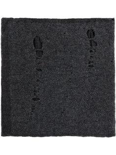 шарф с эффектом потертости Label Under Construction