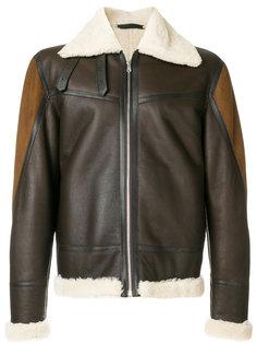 куртка из овчины на молнии Paul Smith