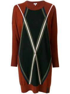трикотажное платье Kenzo