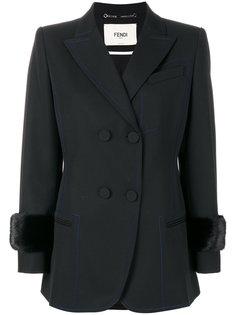 двубортный пиджак Fendi