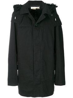 пальто с капюшоном Saint Laurent