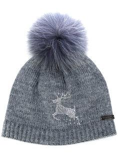 шапка с помпоном и оленем Norton