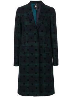 пальто на пуговицах в шотландскую клетку Ps By Paul Smith