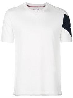 футболка-поло с логотипом на рукаве Moncler Gamme Bleu