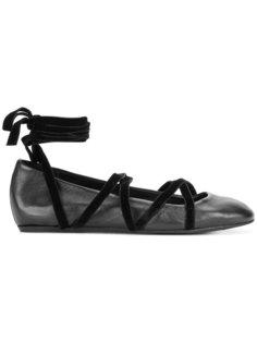 балетки со шнуровкой Lanvin