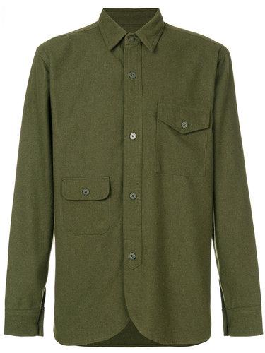 приталенная рубашка в стиле милитари  Han Kjøbenhavn