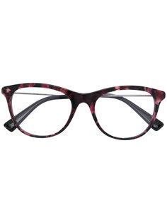 очки в овальной оправе Valentino Eyewear
