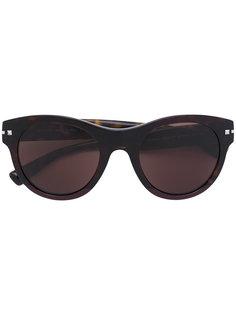 объемные круглые солнцезащитные очки Valentino Eyewear