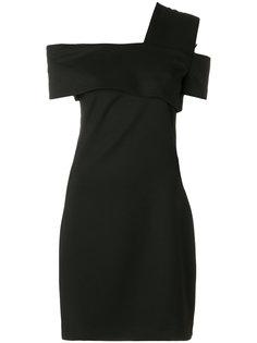 платье асимметричного кроя по колено Helmut Lang