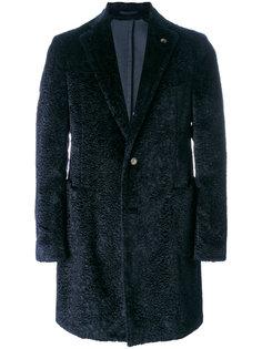 однобортное пальто из овчины Gabriele Pasini