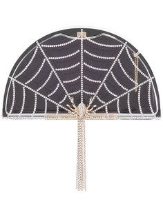 клатч в виде паутины Charlotte Olympia