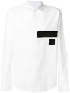рубашка на пуговицах с заплатками Versace Collection