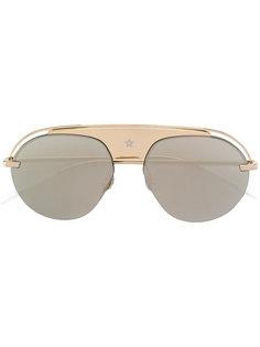 солнцезащитные очки с прямой деталью над переносицей Dior Eyewear
