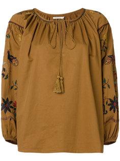 блузка с вышивкой Hansel Mes Demoiselles