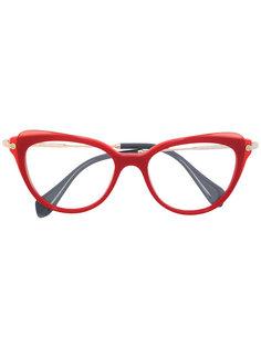 """солнцезащитные очки в оправе """"кошачий глаз"""" Miu Miu Eyewear"""