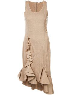 платье без рукавов с рюшами Givenchy