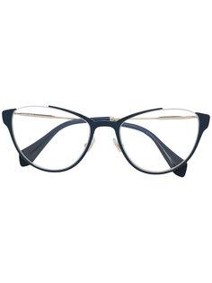 очки в округленной оправе Miu Miu Eyewear