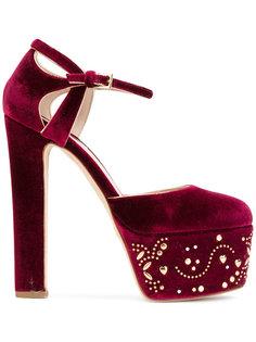 туфли-лодочки на платформе с украшением из заклепок Elie Saab