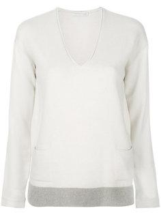 пуловер с V-образной горловиной и карманами Fabiana Filippi