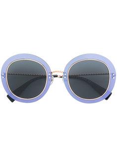 массивные декорированные круглые солнцезащитные очки Marc Jacobs Eyewear
